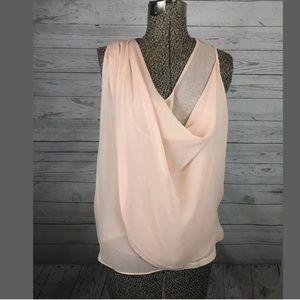 Diane von furstenburg sixe 4 silk top draped